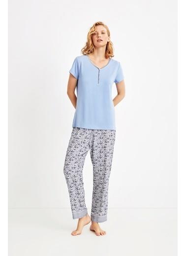 Catherines Pijama Takım Mavi